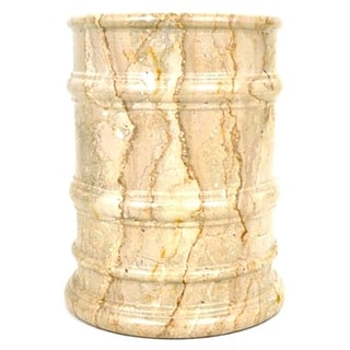 Nature Home Décor Sahara Beige Marble Waste Basket of Bengal Collection