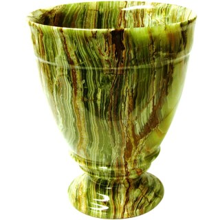 Nature Home Decor Tasmanian Collection Classic Green Onyx Waste Basket