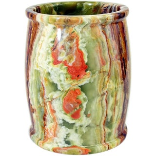 Nature Home Decor Multi Green Onyx Waste Basket of Pacific Collection