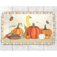 Autumn Pumpkins Accent Rug