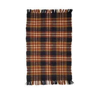 Ithaca Plaid Cotton Woven Rug (1'8 x 2'6)