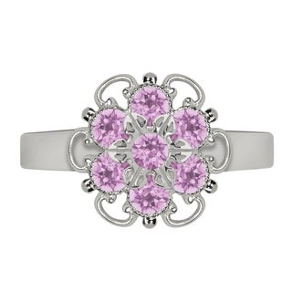 Lucia Costin Sterling Silver Lilac Crystal Ring