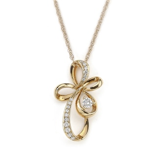 Neda Behnam Diamonds For A Cure 18k Rose Gold 1/4ct TDW Diamond Flower Pendant