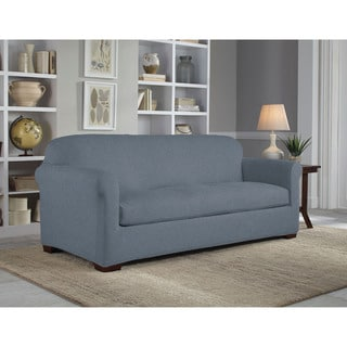Tailor Fit Reversible Stretch Suede Sofa 2-piece Slipcover