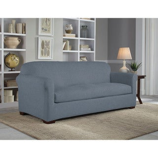 Tailor Fit Reversible Stretch Suede Sofa 2 Piece Slipcover