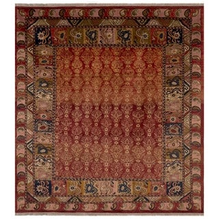 Safavieh One of a Kind Collection Hand-Knotted Peshawar Red/ Multi Wool Rug (8' x 10')