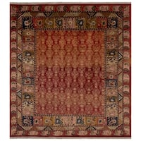 Safavieh One of a Kind Collection Hand-Knotted Peshawar Red/ Multi Wool Rug (8' x 10') - 0
