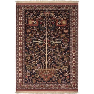 Safavieh One of a Kind Collection Hand-Knotted Persian Ghochan Navy/ Rust Wool Rug (4'5 x 5'11)