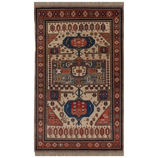 Safavieh One of a Kind Collection Hand-Knotted Kazak Wool Rug (4'10 x 8'3)