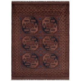 Safavieh One of a Kind Collection Hand-Knotted Afghani Wool Rug (6' x 9') - Multi - 0