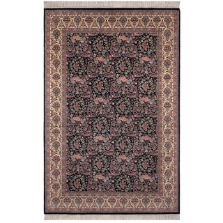 Safavieh One of a Kind Collection Hand-Knotted Peshawar Black/ Ivory Wool Rug (6' x 9')