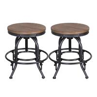 Vintage Dining Series Distressed Metal Adjustable Barstool
