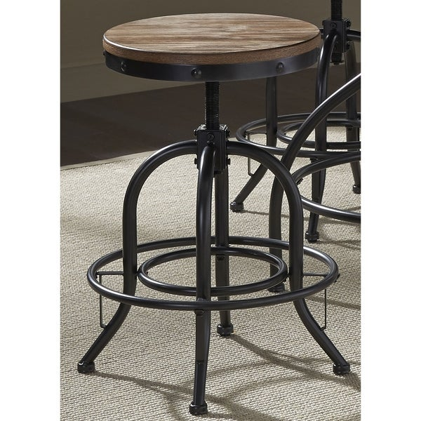 distressed metal furniture. Vintage Dining Series Distressed Metal Adjustable Barstool Furniture