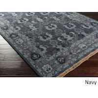 Hand-Knotted Anger Wool Area Rug (2'6 x 8')