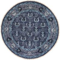 Hand-Knotted Anger Wool Area Rug - 8' x 8'