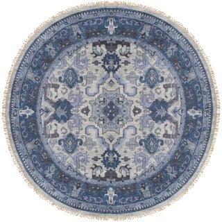 Hand-Knotted Almeria Wool Rug (8' Round)