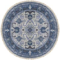 Hand-Knotted Almeria Wool Area Rug - 8' x 8'