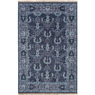 Hand-Knotted Anger Wool Rug (2' x 3')