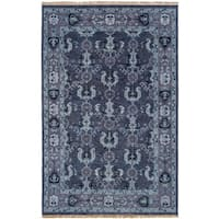 Hand-Knotted Anger Wool Area Rug - 9' x 13'