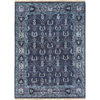 Hand-Knotted Anger Wool Area Rug - 8' x 11'