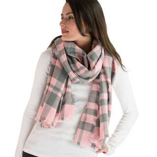 Le Nom Classic Simple Plaid Blanket Scarf