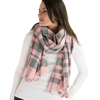 Le Nom Classic Simple Plaid Blanket Scarf
