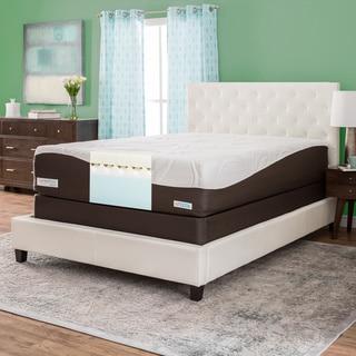 ComforPedic from Beautyrest 14-inch Memory Foam Mattress Set - White