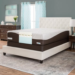 ComforPedic from Beautyrest 14-inch Queen-size Memory Foam Mattress Set