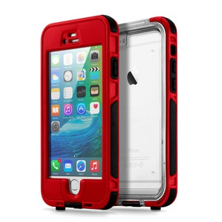 Gearonic Waterproof Shockproof Snow Proof Case Cover for iPhone 6 6S (Option: Red)