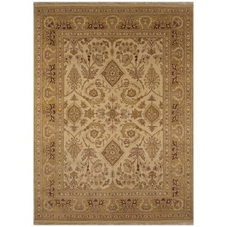 Safavieh One of a Kind Collection Hand-Knotted Agra Beige Wool Rug (8' x 10')
