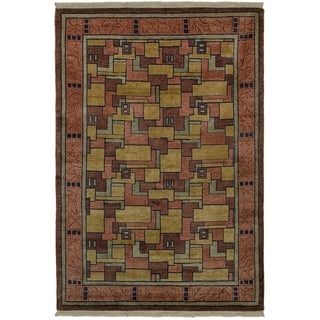 Safavieh One of a Kind Collection Hand-Knotted Tibetan Natural/ Assorted Wool Rug (6' x 9') - Multi - 0