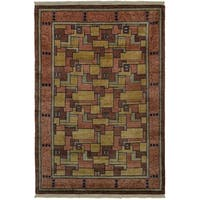 Safavieh One of a Kind Collection Hand-Knotted Tibetan Natural/ Assorted Wool Rug (6' x 9') - Multi