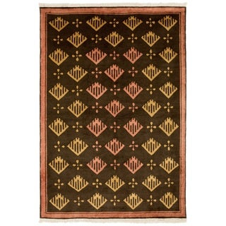 Safavieh One of a Kind Collection Hand-Knotted Tibetan Brown/ Multi Wool Rug (6' x 9')