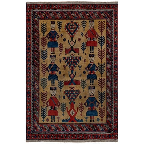 Safavieh One of a Kind Collection Hand-Knotted Persian Bakhtiari Wool Rug (4' x 6') - Multi - 0
