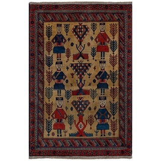 Safavieh One of a Kind Collection Hand-Knotted Persian Bakhtiari Wool Rug (4' x 6')