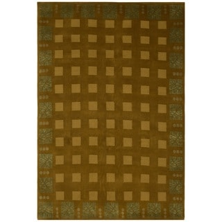 Safavieh One of a Kind Collection Hand-Knotted Nepalese Wool/ Silk Rug(6' x 9')