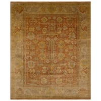 Safavieh One of a Kind Collection Hand-Knotted Oushak Light Gold Wool Rug (8'2 x 9'10)