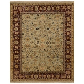 Safavieh One of a Kind Collection Hand-Knotted Agra Yellow/ Brown Wool Rug (8' x 10')