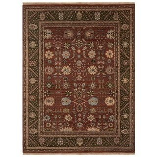 Safavieh One of a Kind Collection Hand-Knotted Agra Brown/ Multi Wool Rug (8' x 10')