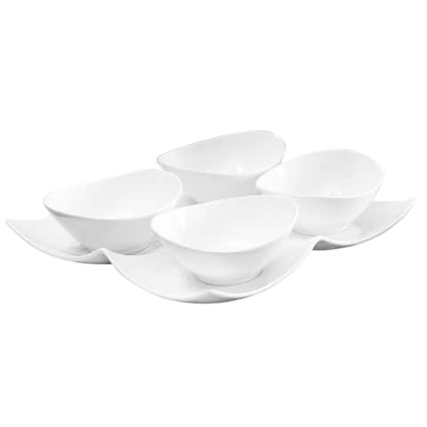 Vanilla Fare 5pc Bowl and Tray Set