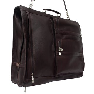 Piel Leather Executive Expandable 5-suit Garment Bag