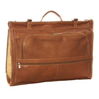 Piel Leather 4-Suit Tri-Fold Garment Bag