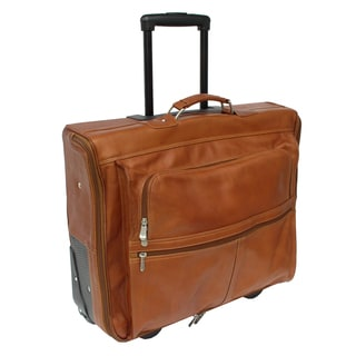 Piel Leather 4-Suit Rolling Garment Bag