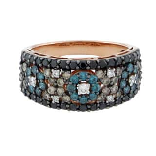 Suzy Levian 14K Rose Gold and Color Diamond Mosaic Ring|https://ak1.ostkcdn.com/images/products/10948928/P17975662.jpg?impolicy=medium