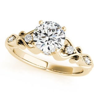 14k Gold Round Solitaire Diamond Heart Engagement Ring 2.10ct