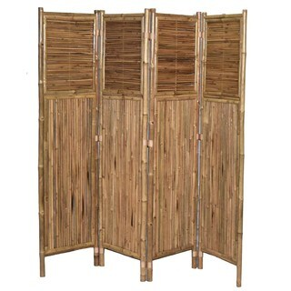 Bamboo 4-panel Vertical Screen