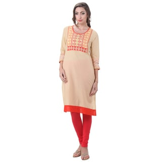 In-Sattva Women's Indian Abstract Block Print Kurta Tunic