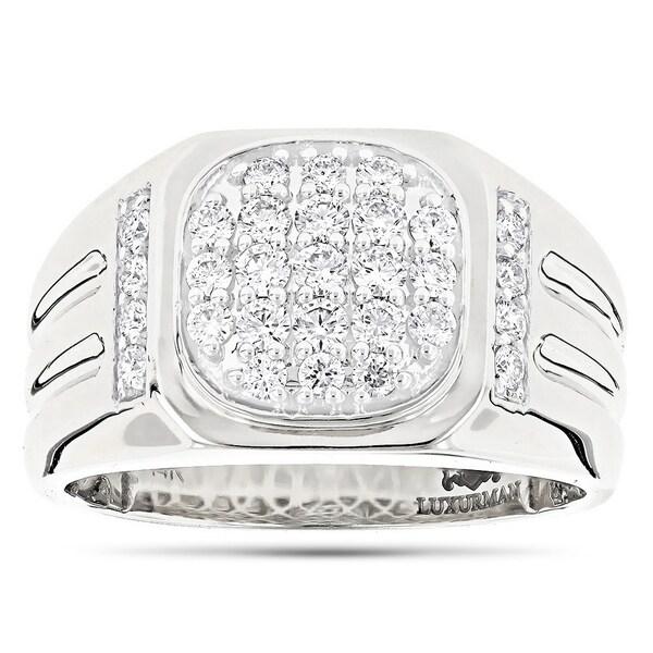 23e5d598212d0 Shop Men's Diamond Band 14k Rose, White or Yellow Gold Pinky Ring ...