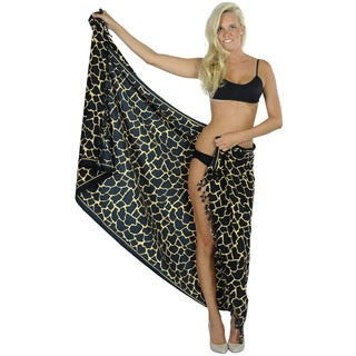 La Leela Bikini Cover up Resort Swimsuit Pool Swimwear Beachwear Wrap Pareo Gift Brown