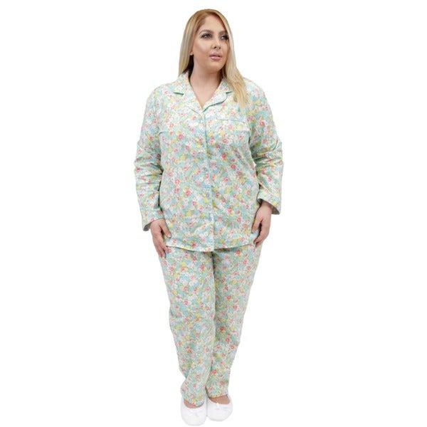 Shop La Cera Long Sleeve Flannel Pajamas Set - Free Shipping Today ... b1546504a